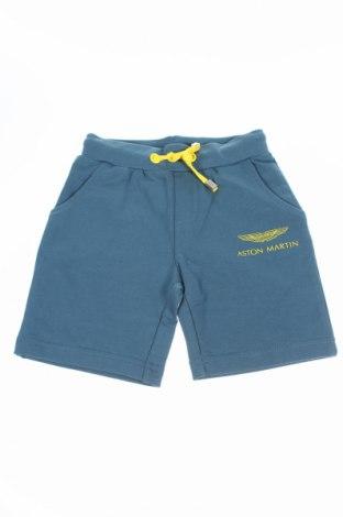 Pantaloni scurți de copii Aston Martin, Mărime 6-9m/ 68-74 cm, Culoare Albastru, 95% bumbac, 5% elastan, Preț 96,79 Lei