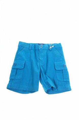 Pantaloni scurți de copii Fay, Mărime 9-12m/ 74-80 cm, Culoare Albastru, 97% bumbac, 3% elastan, Preț 76,05 Lei