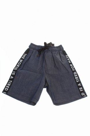 Pantaloni scurți de copii MNML Couture, Mărime 4-5y/ 110-116 cm, Culoare Albastru, 97% bumbac, 3% elastan, Preț 82,10 Lei