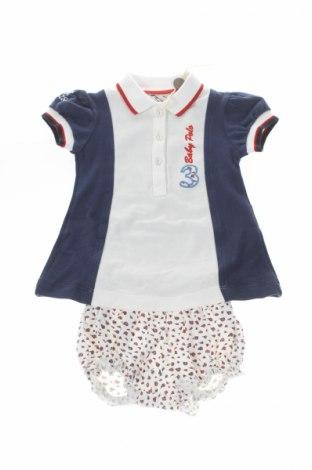 Детски комплект La Martina, Размер 3-6m/ 62-68 см, Цвят Син, 95% памук, 5% еластан, Цена 23,76лв.