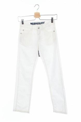 Pantaloni de copii Murphy & Nye, Mărime 9-10y/ 140-146 cm, Culoare Alb, Bumbac, Preț 85,55 Lei