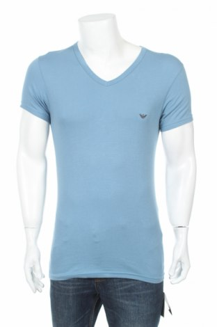 Мъжка тениска Emporio Armani Underwear, Размер M, Цвят Син, 95% памук, 5% еластан, Цена 53,70лв.