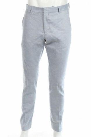 Ανδρικό παντελόνι Selected Homme, Μέγεθος M, Χρώμα Μπλέ, 64% λινό, 17% πολυεστέρας, 17% βισκόζη, 2% ελαστάνη, Τιμή 13,71€