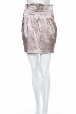 Пола Gina Tricot, Размер M, Цвят Кафяв, 58% памук, 38% полиестер, 4% еластан, Цена 6,83лв.