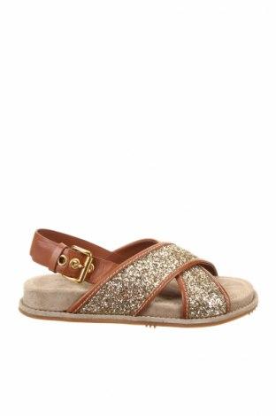 Sandale Car Shoe, Mărime 36, Culoare Maro, Piele naturală, textil, Preț 275,56 Lei