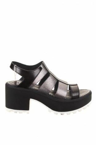 Sandale Cuir, Mărime 39, Culoare Negru, Piele naturală, textil, Preț 114,82 Lei