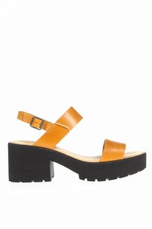 Sandale Deux Souiliers, Mărime 40, Culoare Galben, Piele naturală, Preț 160,89 Lei