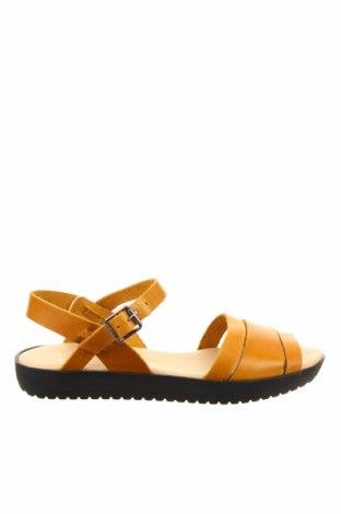 Sandały Deux Souiliers, Rozmiar 36, Kolor Żółty, Skóra naturalna, Cena 128,59zł