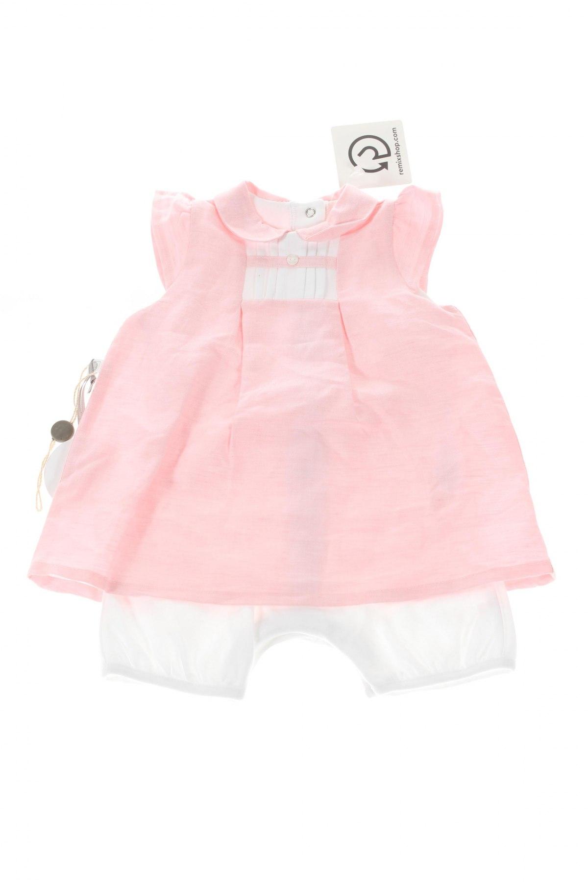 Детски комплект Absorba, Размер 6-9m/ 68-74 см, Цвят Розов, 39% памук, 61% лен, Цена 47,56лв.