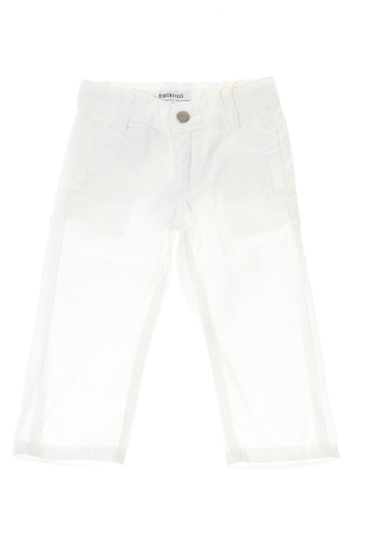 Детски панталон Bikkembergs, Размер 9-12m/ 74-80 см, Цвят Бял, Памук, Цена 37,35лв.