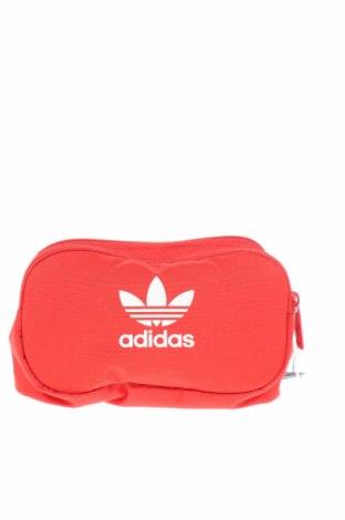 Чанта за кръст Adidas Originals, Цвят Червен, Текстил, Цена 37,44лв.