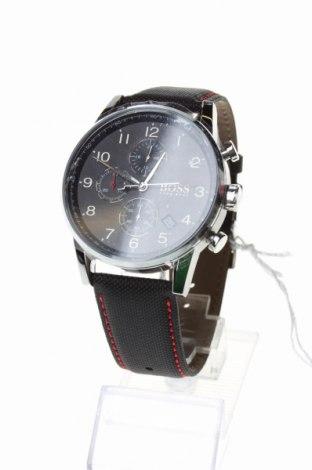 Часовник Boss, Цвят Черен, Естествена кожа, метал, Цена 317,40лв.