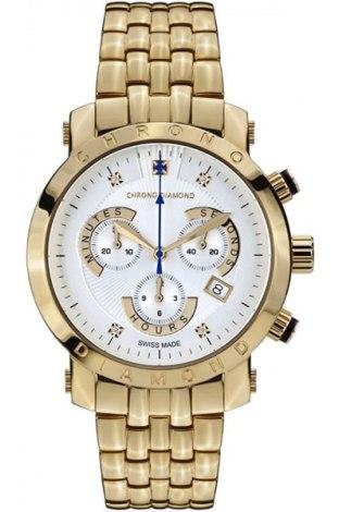 Ρολόι Chrono Diamond, Χρώμα Χρυσαφί, Μέταλλο, Τιμή 717,53€
