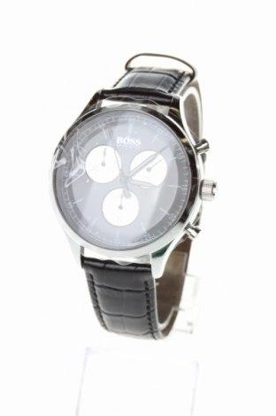 Ρολόι Hugo Boss, Χρώμα Μαύρο, Γνήσιο δέρμα, μέταλλο, Τιμή 143,85€