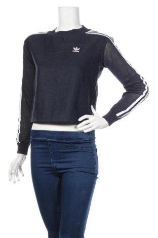 Γυναικεία μπλούζα Adidas Originals, Μέγεθος XXS, Χρώμα Μπλέ, Lyocell, πολυεστέρας, βισκόζη, βαμβάκι, Τιμή 20,36€