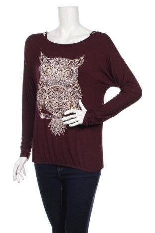 Дамска блуза Clockhouse, Размер XS, Цвят Лилав, 92% вискоза, 8% еластан, Цена 26,75лв.