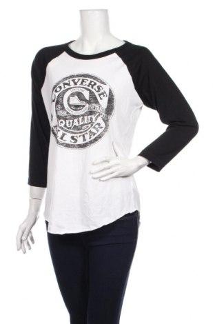 Γυναικεία μπλούζα Converse, Μέγεθος M, Χρώμα Λευκό, Βαμβάκι, Τιμή 17,83€