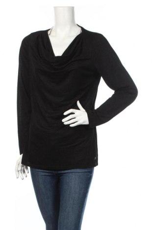 Дамска блуза Esprit, Размер XL, Цвят Черен, 67% вискоза, 33% метални нишки, Цена 18,52лв.
