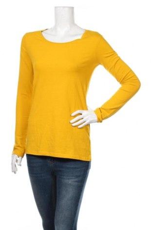Дамска блуза H&M Divided, Размер M, Цвят Жълт, 95% памук, 5% еластан, Цена 17,85лв.