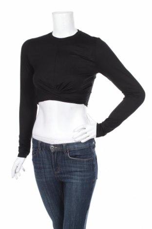 Дамска блуза H&M Divided, Размер S, Цвят Черен, 95% вискоза, 5% еластан, Цена 19,95лв.