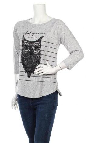 Дамска блуза LCW, Размер L, Цвят Сив, 72% полиестер, 24% памук, 4% вискоза, Цена 17,01лв.