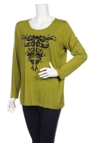 Дамска блуза Laura T., Размер XL, Цвят Зелен, 95% вискоза, 5% еластан, Цена 17,49лв.