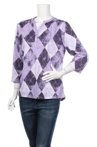 Дамска блуза Mark Adam, Размер L, Цвят Лилав, 71% полиестер, 29% памук, Цена 17,01лв.