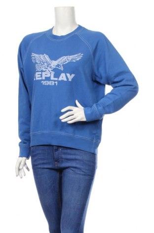 Dámska blúza Replay, Veľkosť S, Farba Modrá, Bavlna, Cena  33,03€