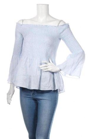 Γυναικεία μπλούζα Zara, Μέγεθος M, Χρώμα Μπλέ, Ραμί, Τιμή 12,09€
