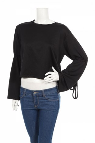 Дамска блуза Zara Trafaluc, Размер S, Цвят Черен, Полиестер, Цена 28,81лв.