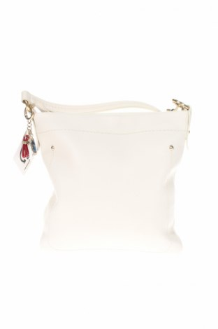 Дамска чанта Bally, Цвят Бежов, Естествена кожа, Цена 271,44лв.