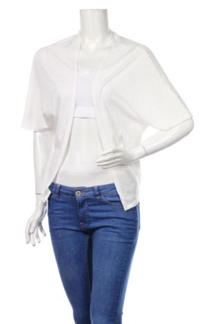 Дамска жилетка Mim, Размер S, Цвят Бял, 70% полиестер, 28% вискоза, 2% еластан, Цена 5,04лв.