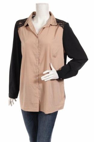 Дамска риза, Размер XL, Цвят Бежов, 100% полиестер, Цена 15,75лв.