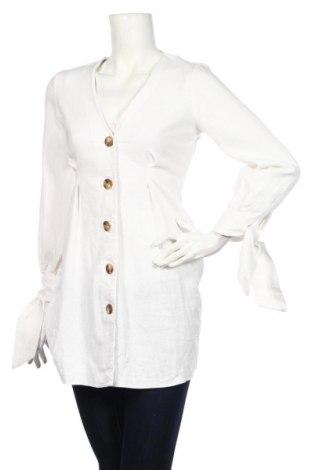 Damska koszula ASOS, Rozmiar S, Kolor Biały, 57% len, 43% wiskoza, Cena 108,00zł