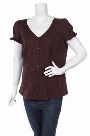 Γυναικείο πουκάμισο B.C. Best Connections, Μέγεθος XL, Χρώμα Καφέ, 96% βαμβάκι, 4% ελαστάνη, Τιμή 17,19€