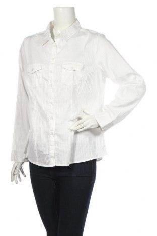 Дамска риза Charles Vogele, Размер XXL, Цвят Бял, 75% памук, 22% полиамид, 3% еластан, Цена 19,95лв.