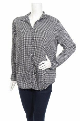 Дамска риза Charles Vogele, Размер XL, Цвят Черен, 100% памук, Цена 17,01лв.