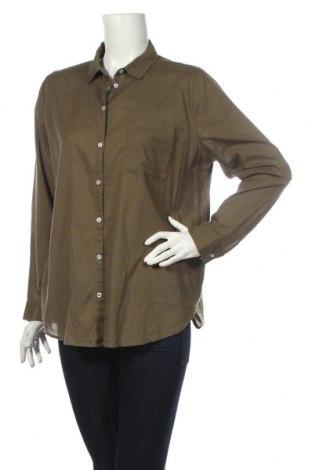 Дамска риза H&M Divided, Размер L, Цвят Зелен, Памук, Цена 23,10лв.