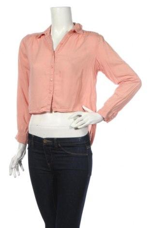 Дамска риза H&M Divided, Размер XS, Цвят Розов, Вискоза, Цена 18,90лв.