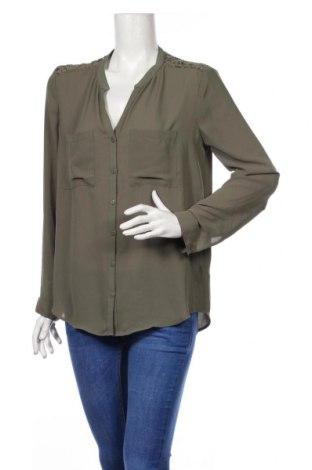 Дамска риза H&M Divided, Размер L, Цвят Зелен, Полиестер, Цена 19,95лв.