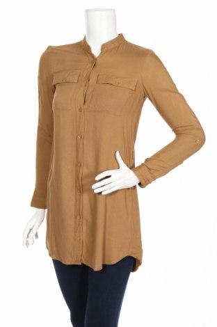Дамска риза H&M Divided, Размер XS, Цвят Кафяв, Вискоза, Цена 17,85лв.