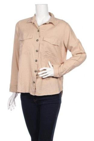 Дамска риза H&M Divided, Размер M, Цвят Бежов, Памук, Цена 15,75лв.