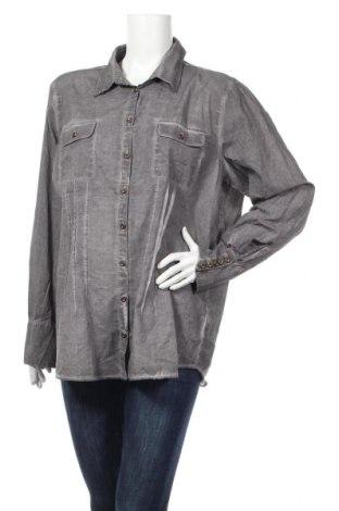Дамска риза Mark Adam, Размер XXL, Цвят Сив, Памук, Цена 17,96лв.