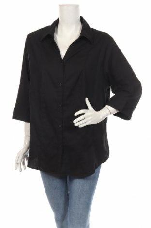 Дамска риза Now, Размер XXL, Цвят Черен, Памук, полиамид, еластан, Цена 40,95лв.