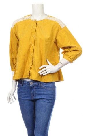 Dámská košile  Zara, Rozměr M, Barva Žlutá, 100% bavlna, Cena  449,00Kč