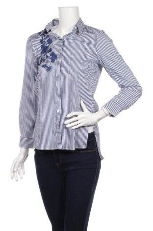 Дамска риза Zara, Размер S, Цвят Син, Цена 23,10лв.