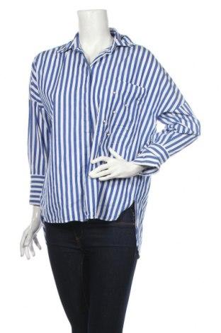 Dámská košile  Zara, Rozměr M, Barva Modrá, 100% bavlna, Cena  383,00Kč