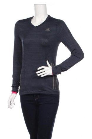 Γυναικεία αθλητική μπλούζα Adidas, Μέγεθος XS, Χρώμα Μπλέ, 95% πολυεστέρας, 5% ελαστάνη, Τιμή 15,28€