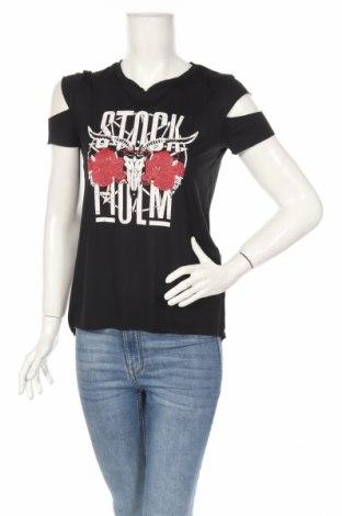 Γυναικείο t-shirt Fb Sister, Μέγεθος S, Χρώμα Μαύρο, 65% πολυεστέρας, 35% βισκόζη, Τιμή 13,40€