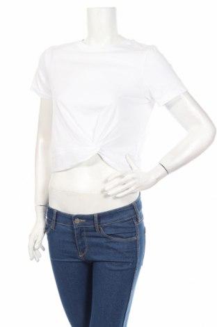 Дамска тениска H&M Sport, Размер S, Цвят Бял, 59% памук, 41% полиестер, Цена 23,00лв.